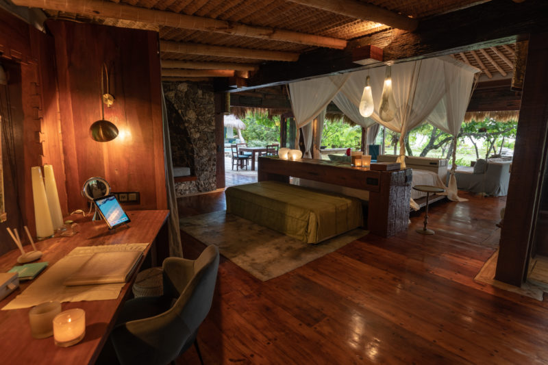 Seychelles - North Island - 1554 - North Island Resort - Presidential Villa - Desk area and bedroom