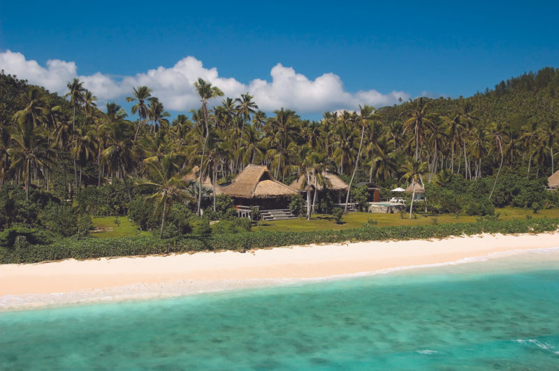 Seychelles - North Island - 1554 - North Island Resort - Presidential Villa - Aerial view of beach and villa