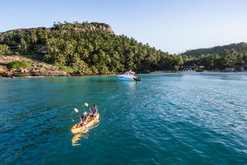 Seychelles - North Island - 1554 - North Island Resort - Sea Kayaking in the bays