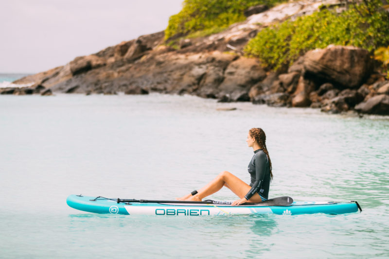 Seychelles - North Island - 1554 - North Island Resort - Stand Up Paddle Boarding - Paddling Out