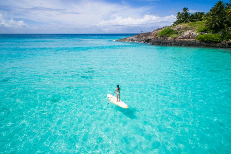 Seychelles - North Island - 1554 - North Island Resort - Stand Up Paddle Boarding - Sea exploration
