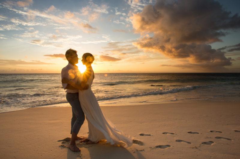 Seychelles - North Island - 1554 - North Island Resort - Sunset Beach Wedding - Embrace