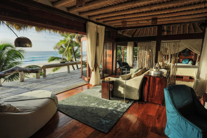 Seychelles - North Island - 1554 - North Island Resort- Villa North Island - Private Lounge Area - Beachfront views