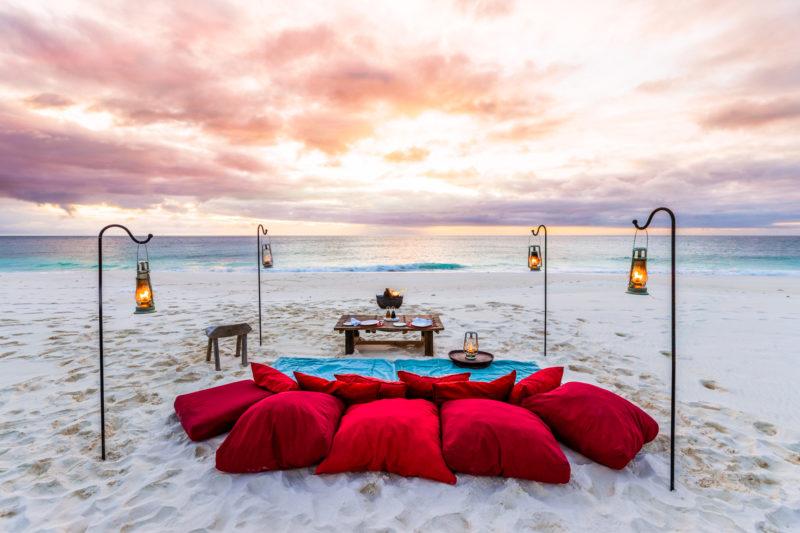 Seychelles - North Island - 1554 - North Island Resort - West Beach Picnic - Romantic dining