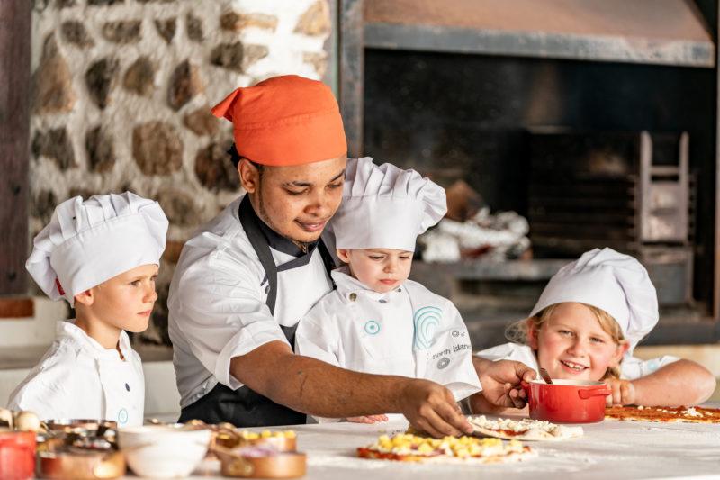 SSeychelles - North Island - 1554 - North Island Resort - Kids Club - Make your own pizza