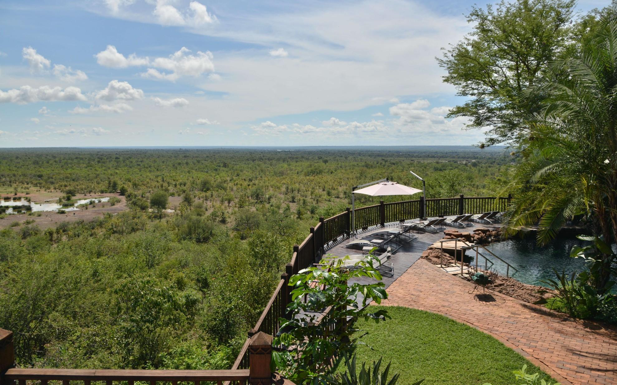Victoria Falls Safari Suites Decking Views
