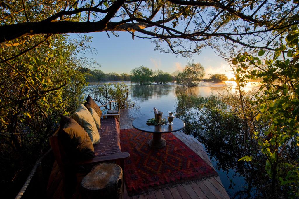 Zambia - Livingston - 1564 - Sindabezi Island Lodge overlooking the river