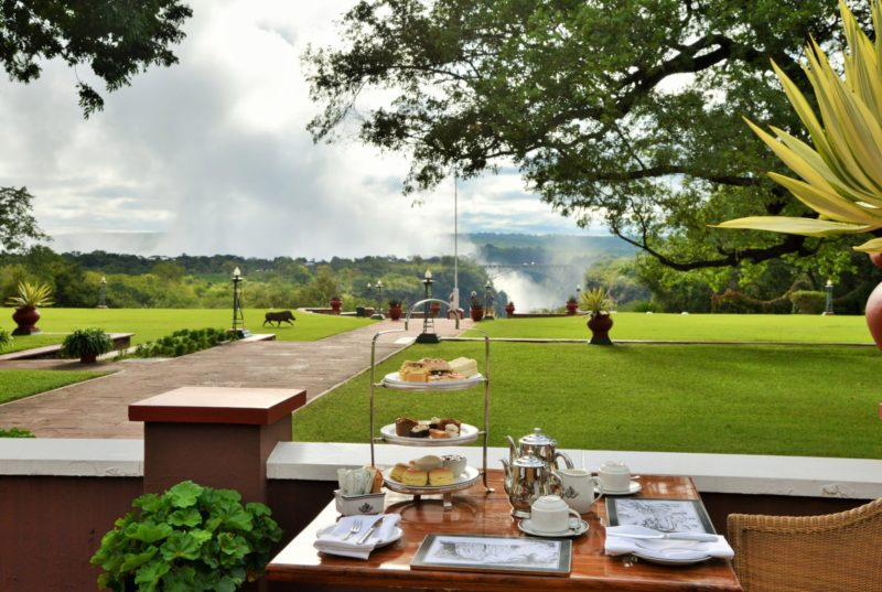 Victoria Falls Hotel Zimbabwe Afternoon Tea on Terrace