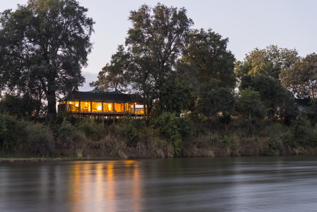 Zambia - Lower Zambezi - 1564 - Camp from the Water