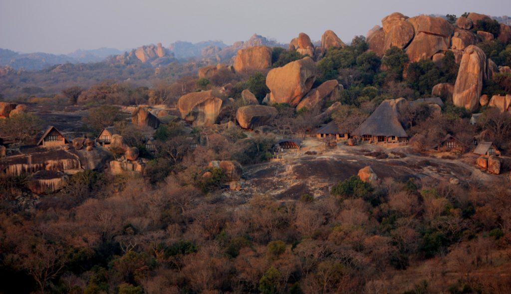 Big Cave Camp Matobo Hills Zimbabwe views from above