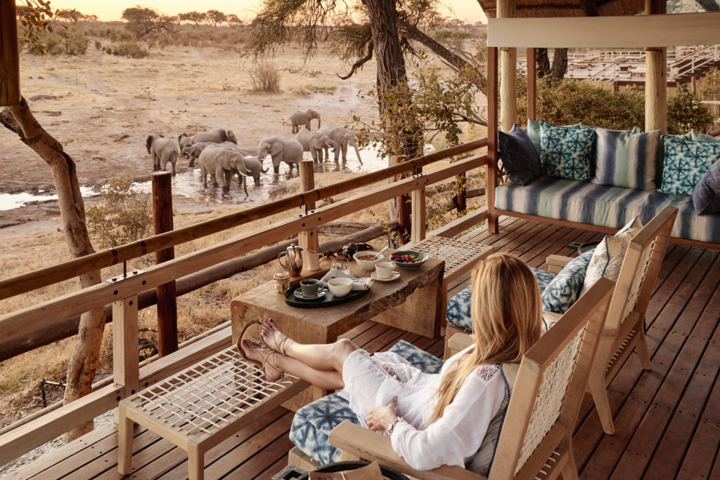 Botswana - Savuti-Chobe National Park - Belmond Savute Elephant Lodge - Observing elephants