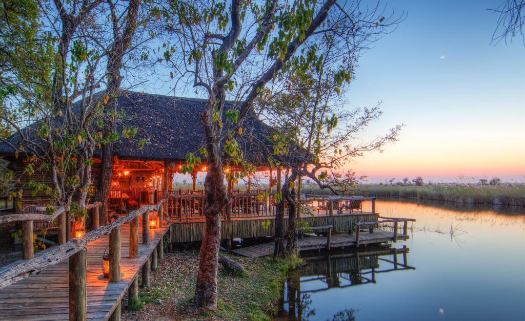 Botswana - Moremi Game Reserve - 1553 - Camp Xakanaxa Dining in the Evening