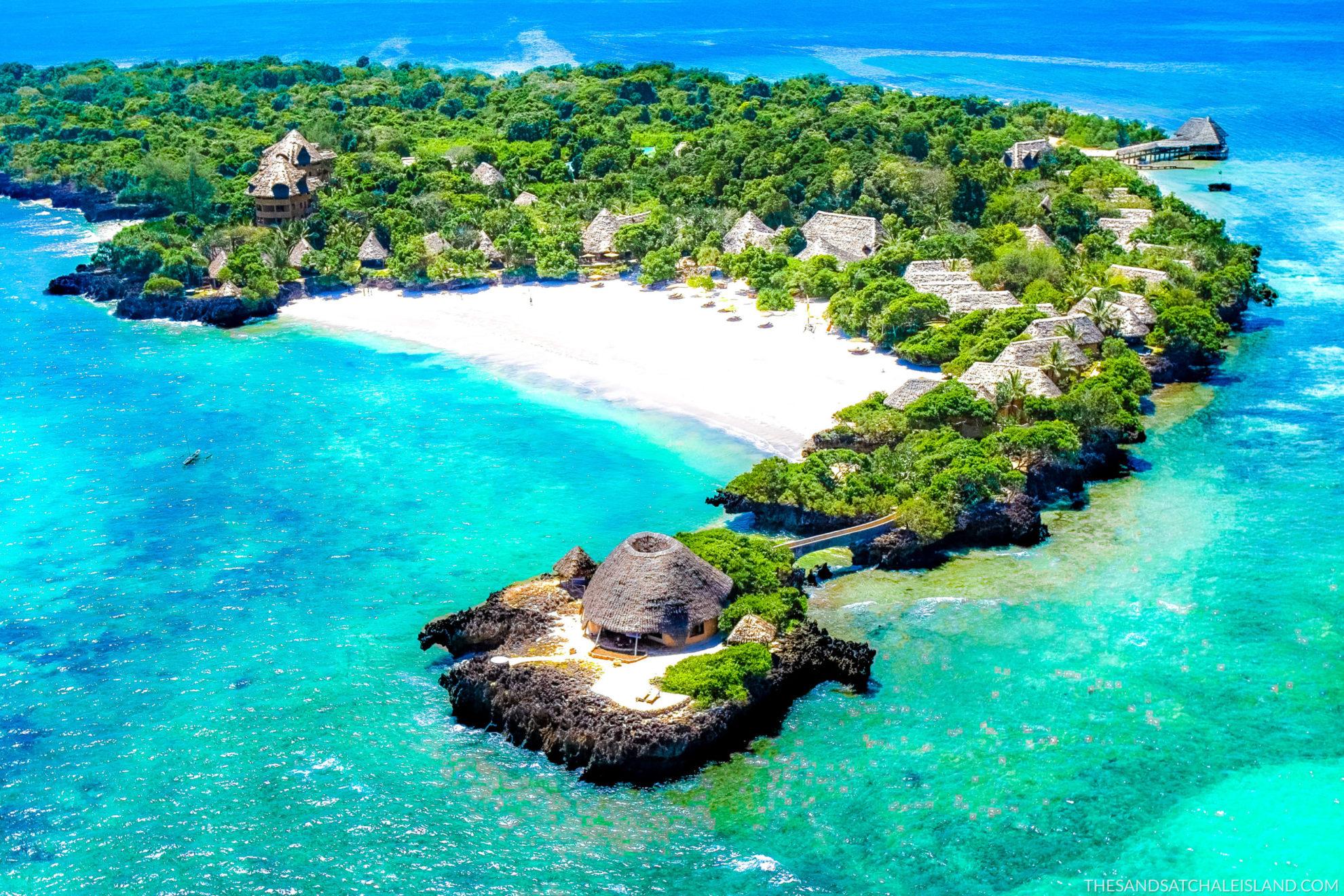Kenya - Chale Island - 12890 - Ariel view of Villas