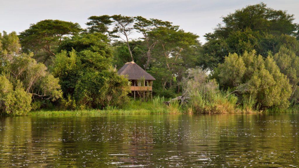 Zambia - Livingston - 1564 - Lodge on Stilts next to River