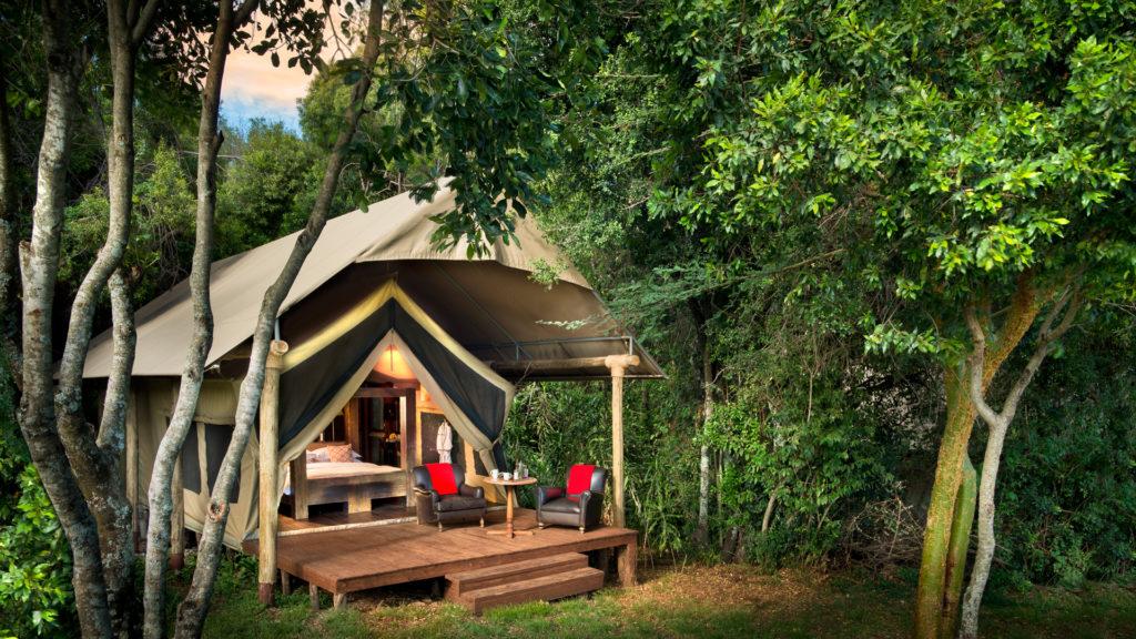 Kenya - Mara North Conservancy - 12890 - andBeyond Kichwa Tembo Classic Tent in Vegetation