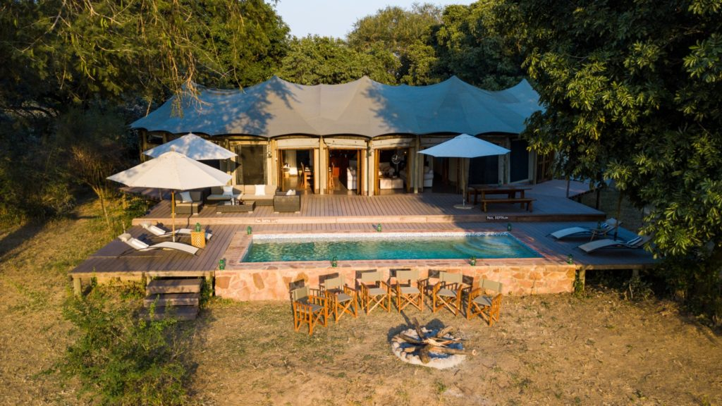 Zambia - South Luangwa National Park - 1564 - Flatdogs Exterior of camp with Plunge Pool