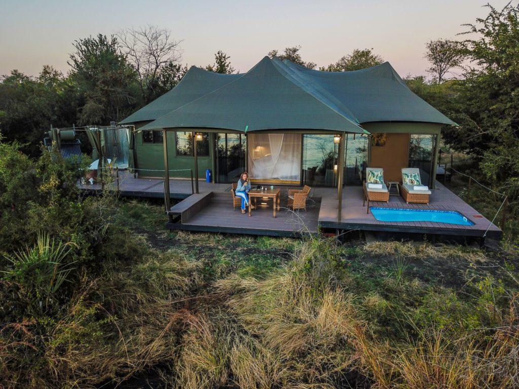 Zimbabwe - Victoria Falls - 1564 - Lodge veranda and Seating Area