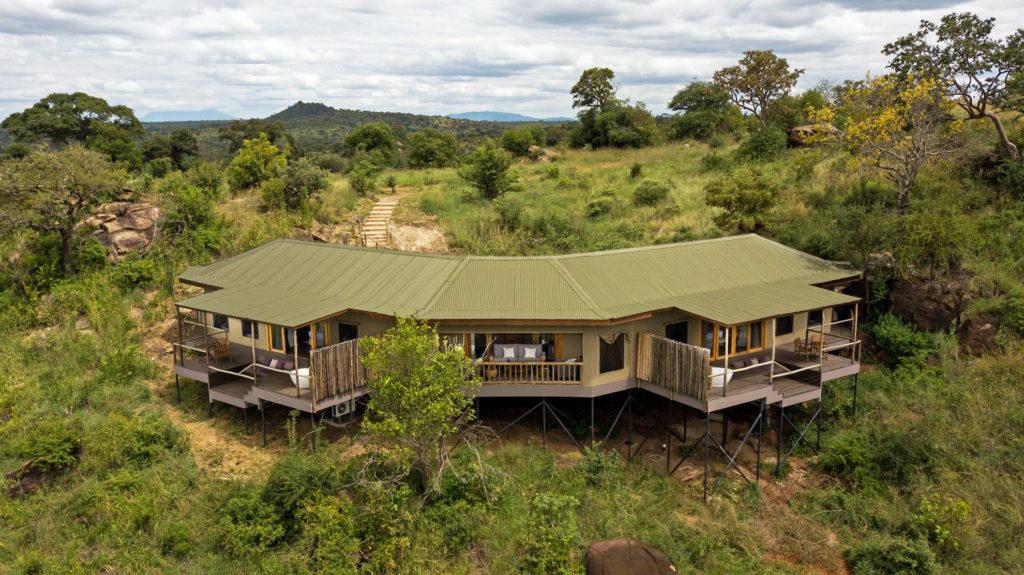 Tanzania - Tarangire National Park - 1568 - Ariel shot of Lodge