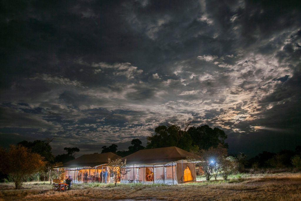 Acacia Migration Camp (July to Nov) at Night