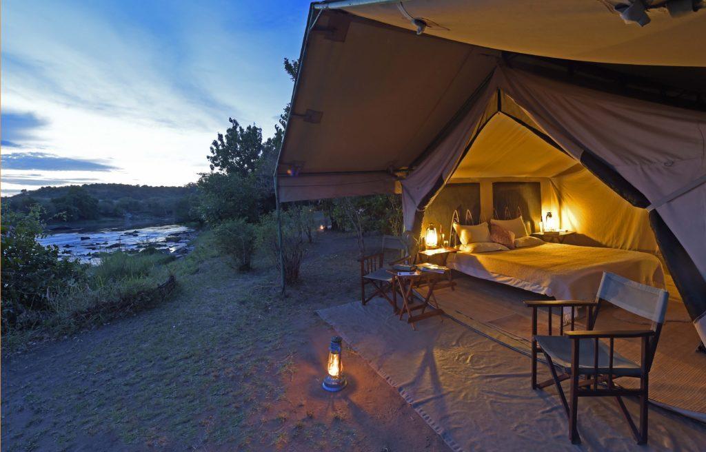 Kenya - Masai Mara National Reserve - 12890 - Tented Accommodation at Night