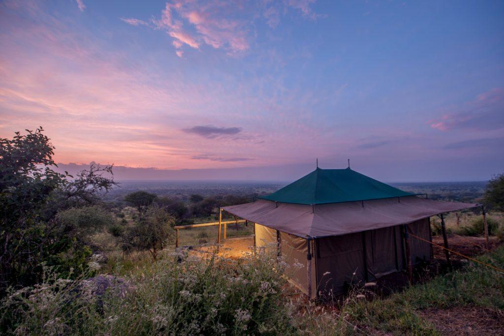 Acacia Tarangire Luxury Camp at Dusk