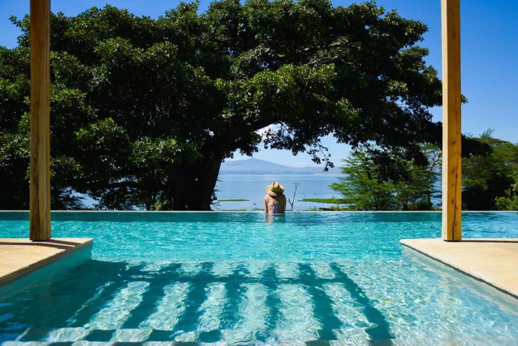 Kenya - Lake Naivasha - Loldia House - Pool views