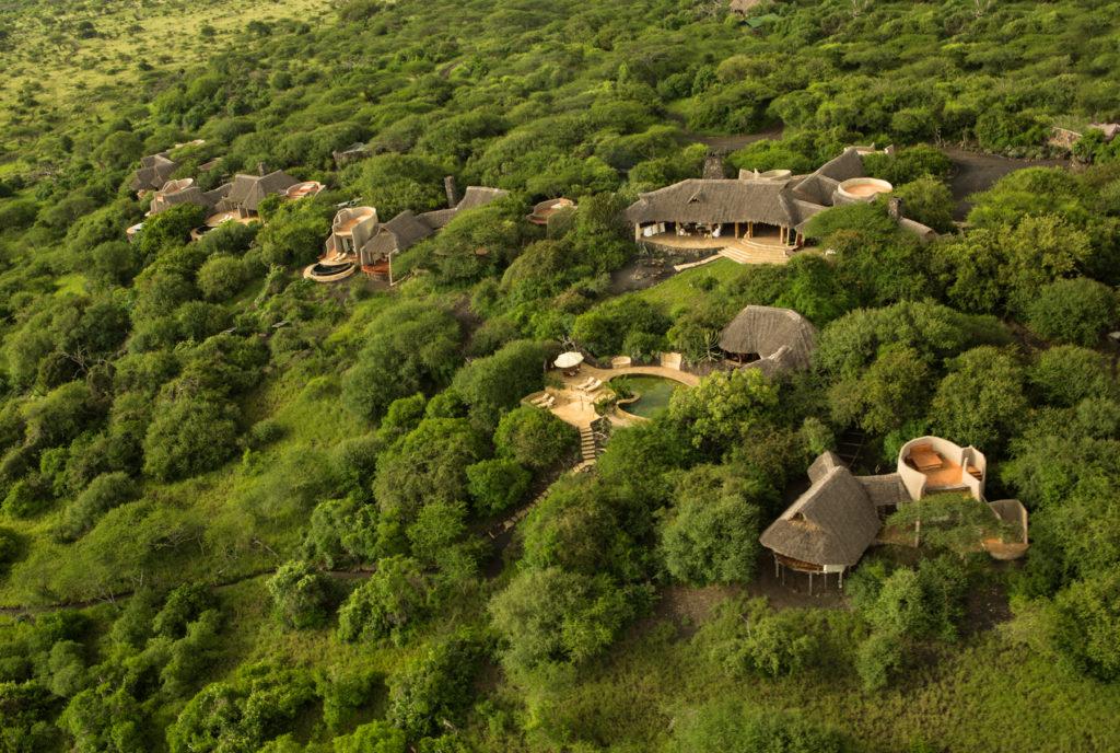 Kenya - Chyulu Hills National Park - Ol Donyo Lodge - Aerial view