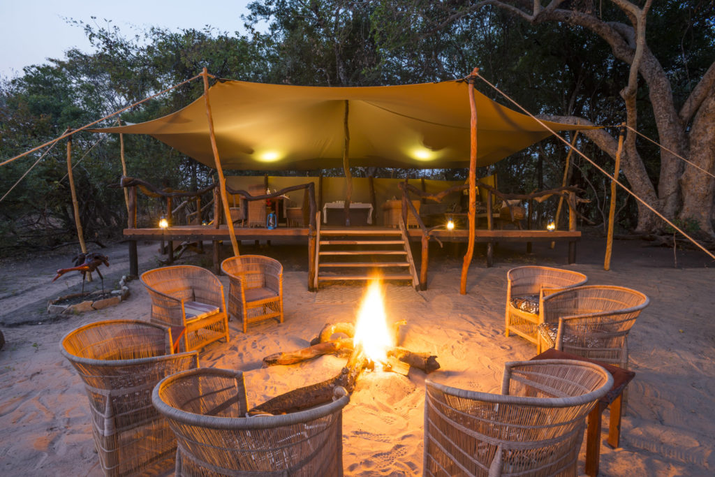Zambia - Kafue National Park - 1564 - Camp at Dawn