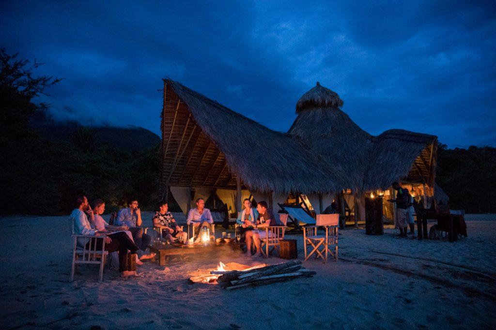 Tanzania - Mahale Mountain National Park - 1568 - Campfire at Night