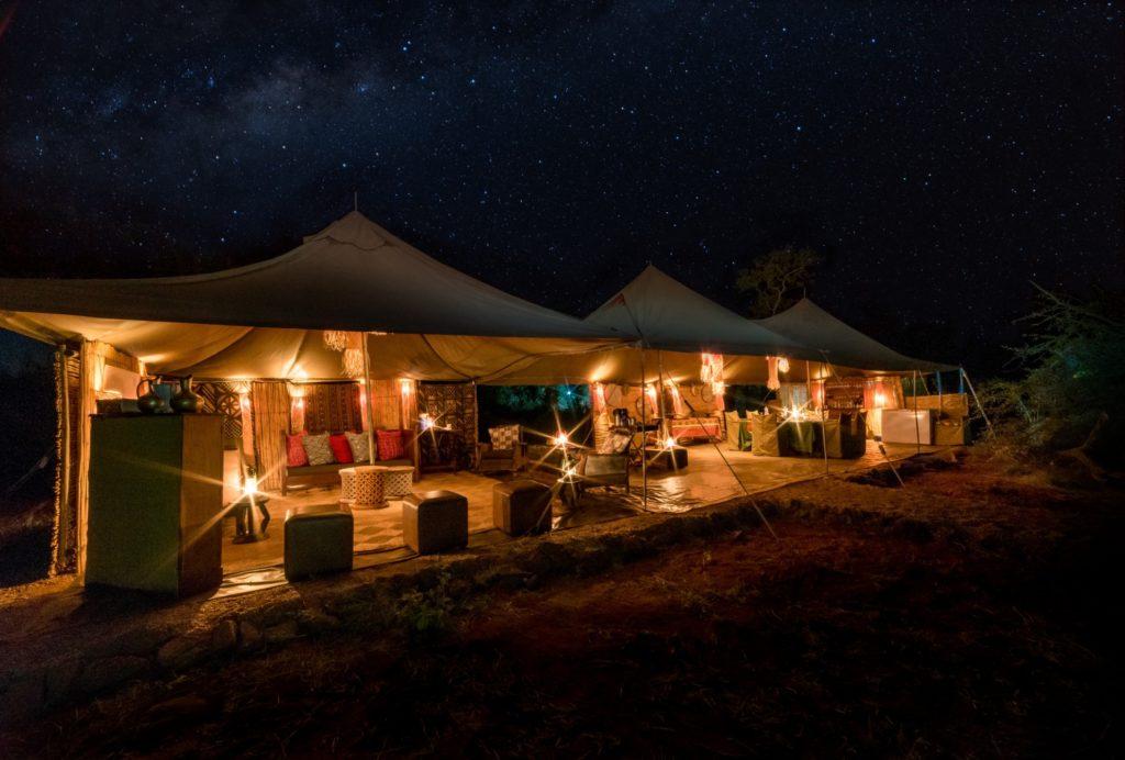 Zimbabwe - Hwange - 1564 - Camp at Night