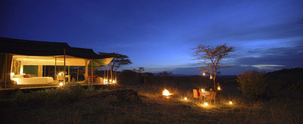 Kenya - Mara Naboisho Conservancy - 12890 - Kicheche Valley Camp at night