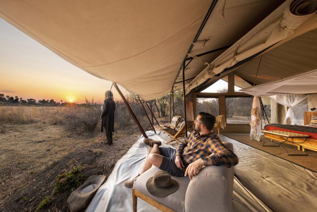 Tanzania - Ruaha National Park - 1568 - Sunset from Tent