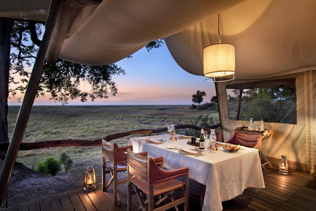 Botswana - Linyanti Concessions - Linyanti Expeditions Botswana Landscape - Dining Experience