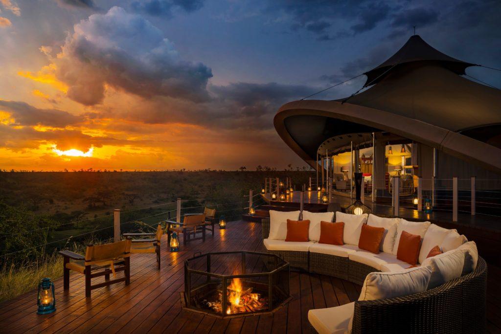 Kenya - Masai Mara - 12890 - Mahali Mzuri exterior at sunset