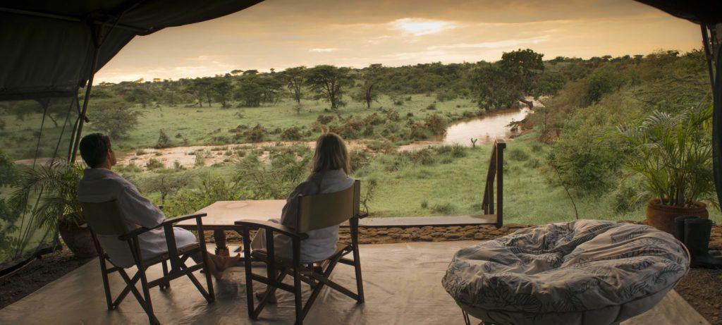 Kenya - Masai Mara - 12890 - Richard's Camp Morning Tea from Tent