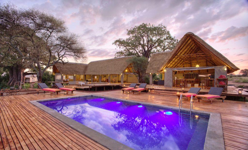 Tarangire Ndovu Tented Lodge Pool at Dusk