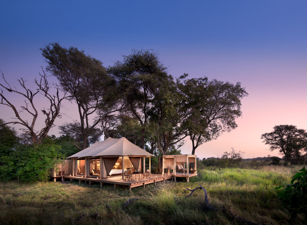 Botswana - Okavango Delta - 1553 - andBeyond Nxabega Okavango Tented Suite at Dusk