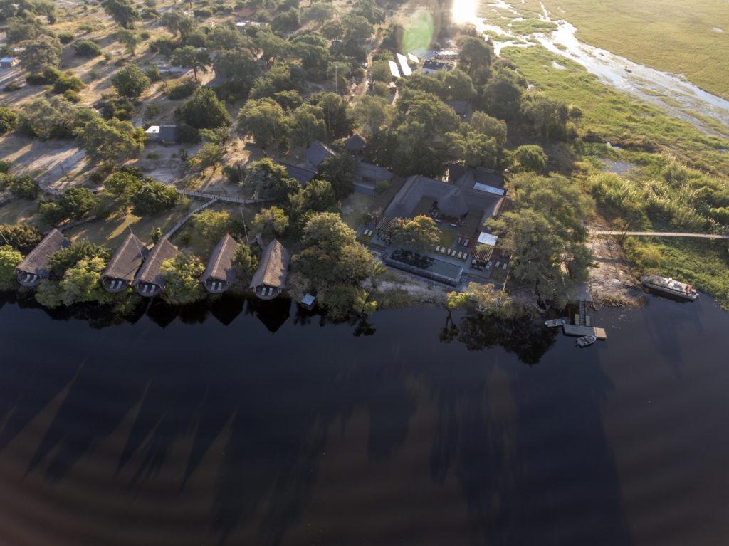 Namibia - Chobe River Front - 1552 - Chobe Water Villas Ariel view