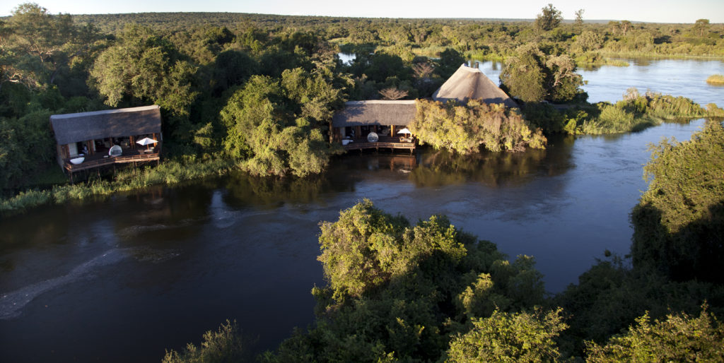Zambia - Livingston - 1564 - Aerial View of Lodges