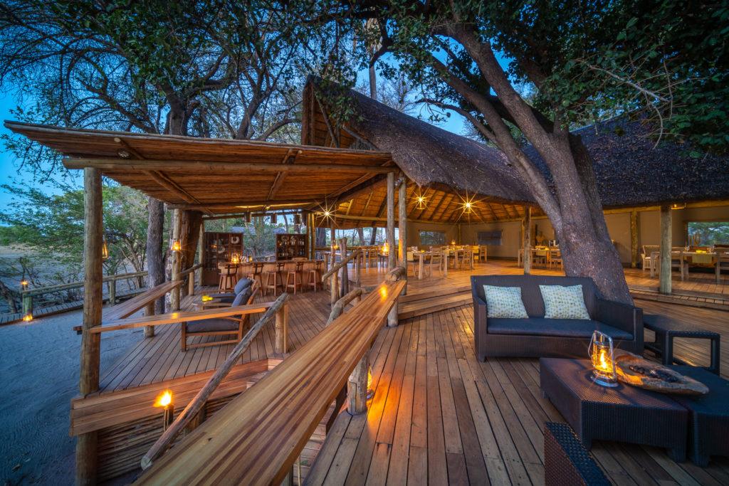 Botswana - Okavango Delta - Seba Camp - Main Camp decking at night