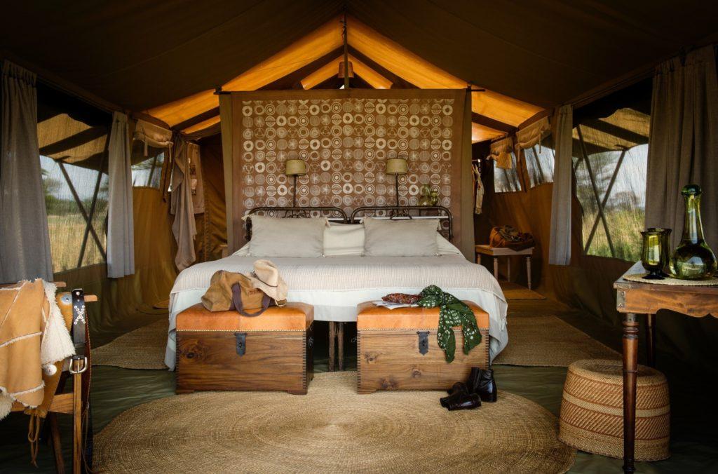 Serengeti Safari Camp South Inside Tented Bedroom