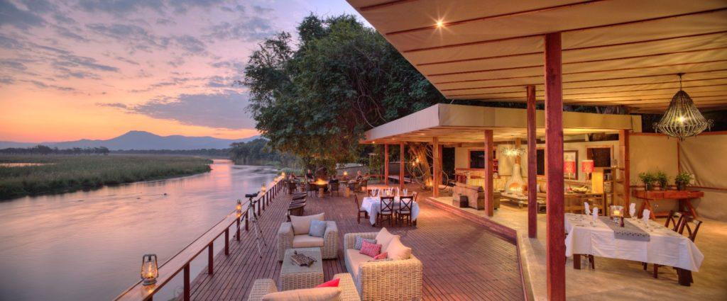 Sausage Tree Camp Lower Zambezi Zambia Dining by the river