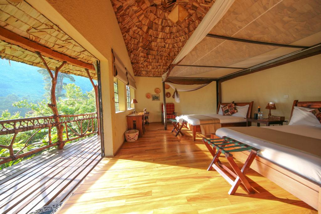 Uganda - Bwindi Impenetrable Forest - 1568 - Sun from Balcony