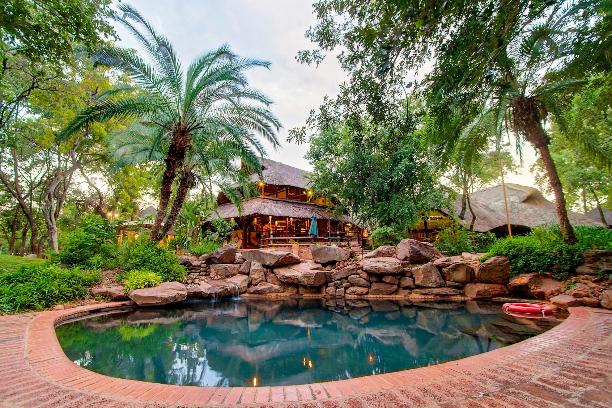 Lokuthula Lodges Victoria Falls Zimbabwe Pool_at_the_boma