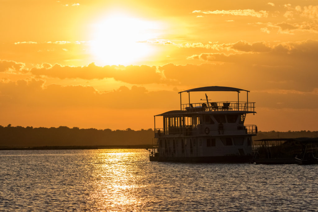 Botswana - Chobe River Front - 1553 - Houseboat Sunset