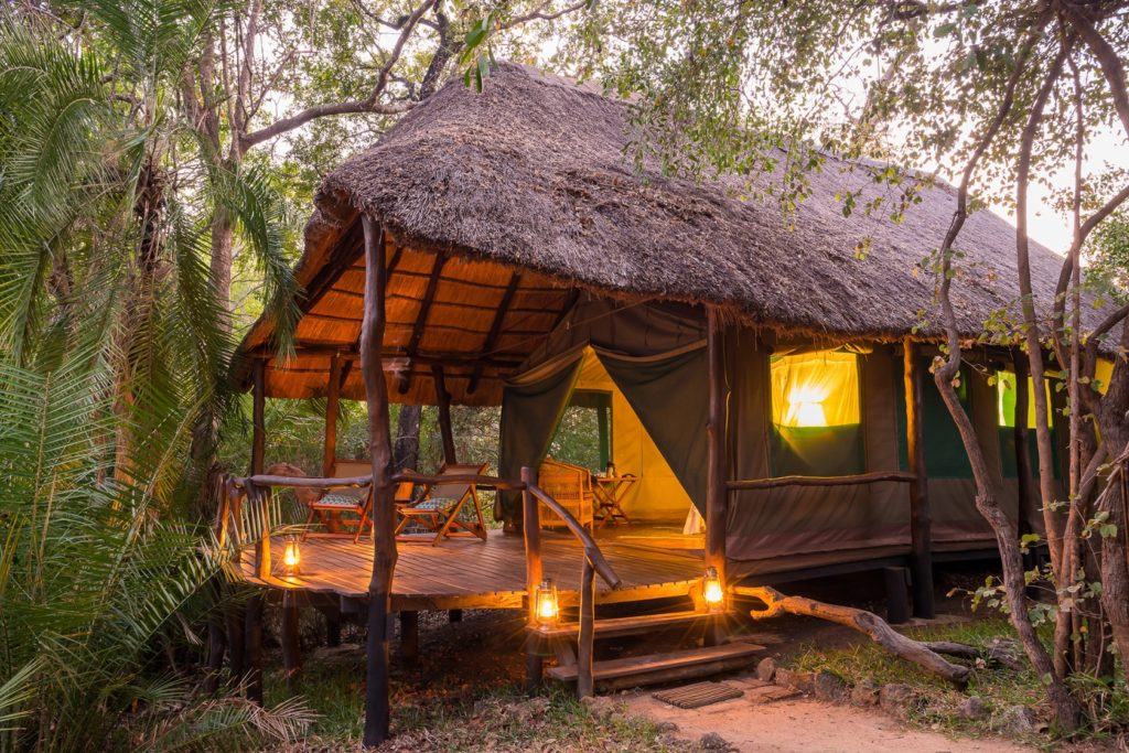 Zambia - Kafue National Park - 1564 - Decking of Tented Accommodation
