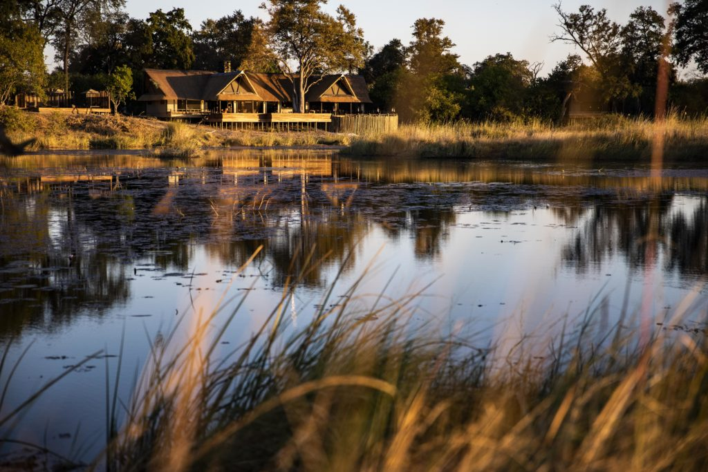 Botswana - Linyanti Concessions - 1553 - Lodge from Riverbank
