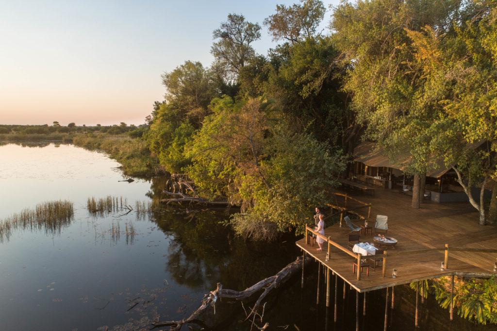 Botswana - Okavango Delta - Xugana Lodge - River views from main decking