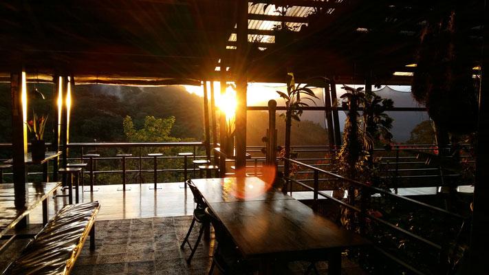 Chile - 1570 - Celeste Mountain Lodge Restaurant Mountain Views