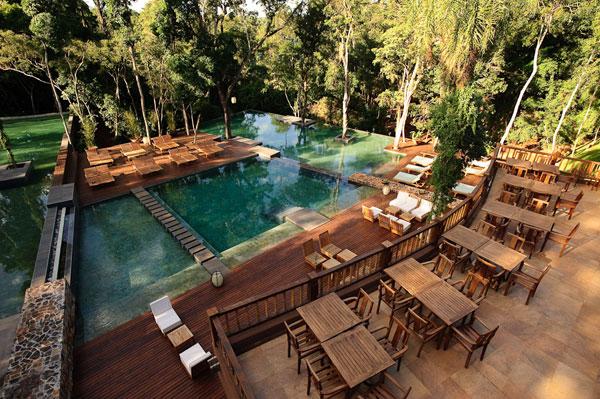 Argentina - Puerto Iguazu - 1584 - Loi Suites Iguazu Hotel - Swimming Pool and Decking